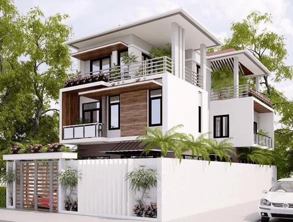 M9: Mẫu biệt thự mái bằng hiện đại, thích hợp xây dựng trong các khu dân cư