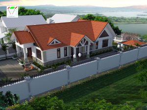 Mẫu thiết kế nhà cấp 4 mái thái 4 phòng ngủ
