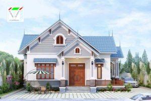 Mẫu thiết kế nhà cấp 4 mái thái theo phong cách châu Âu