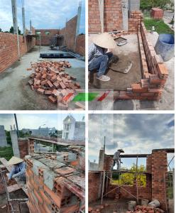 Xây dựng nhà phố 2 tầng cô Kỳ