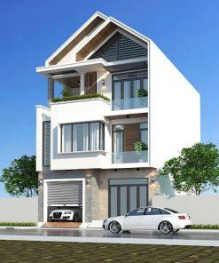 mẫu nhà 3 tầng mái thái