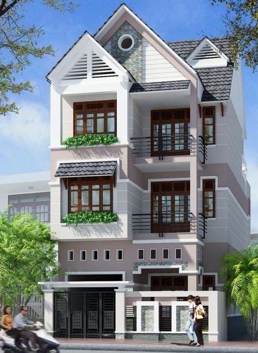 mẫu nhà 3 tầng mái thái đẹp